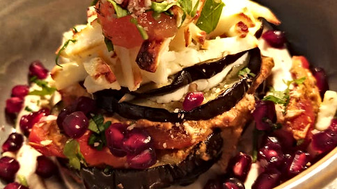 Aubergine, roast pepper and haloumi.jpg