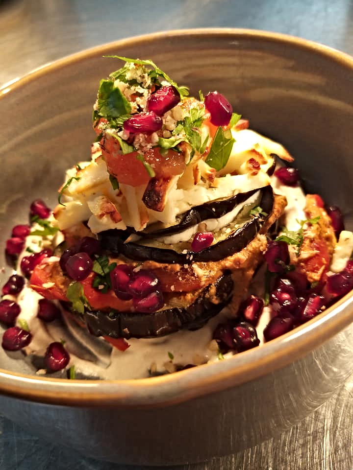 Aubergine, roast pepper and haloumi.jpg