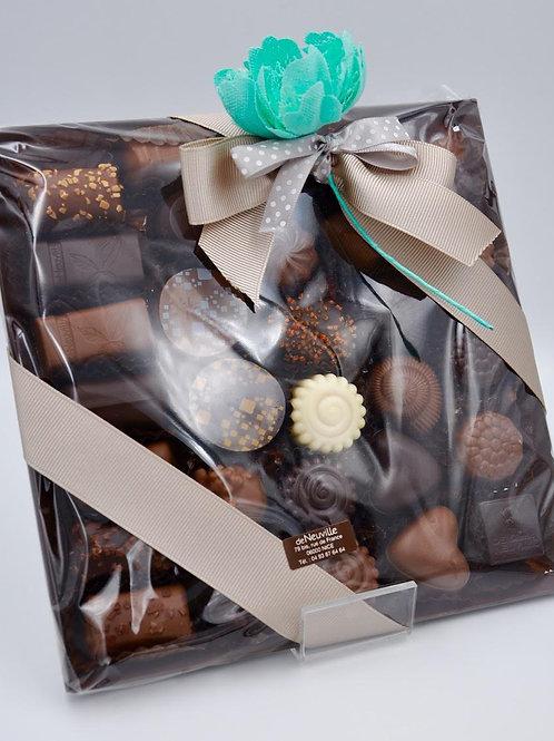 Plateau carré 280g de chocolats