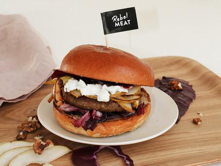 Herbstlicher Burger mit Birne & Ziegenkäse