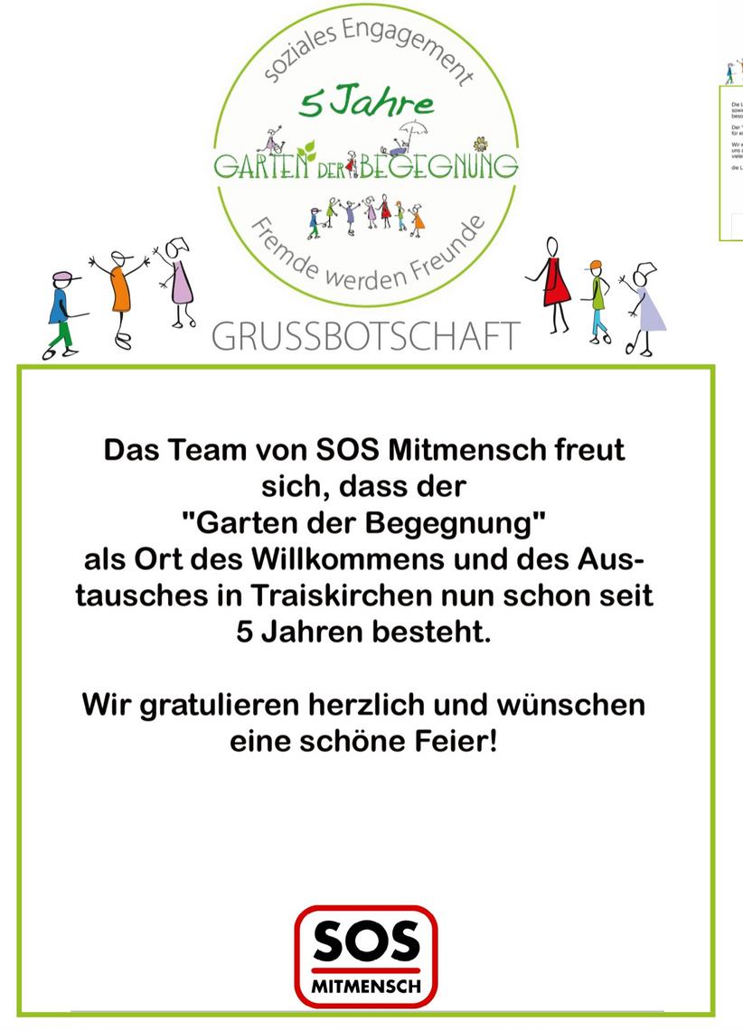 Grußbotschaft SOS Mitmensch
