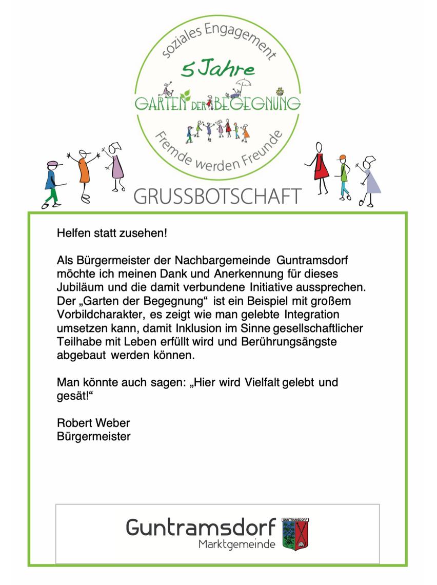 Grußbotschaft Marktgemeinde Guntramsdorf