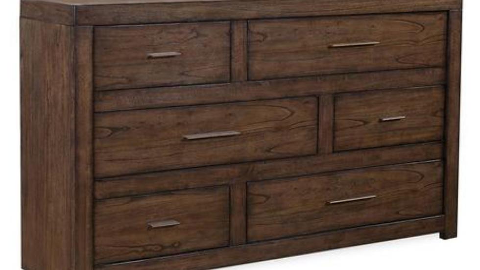 Modern Loft Brownstone 6 Drawer Dresser