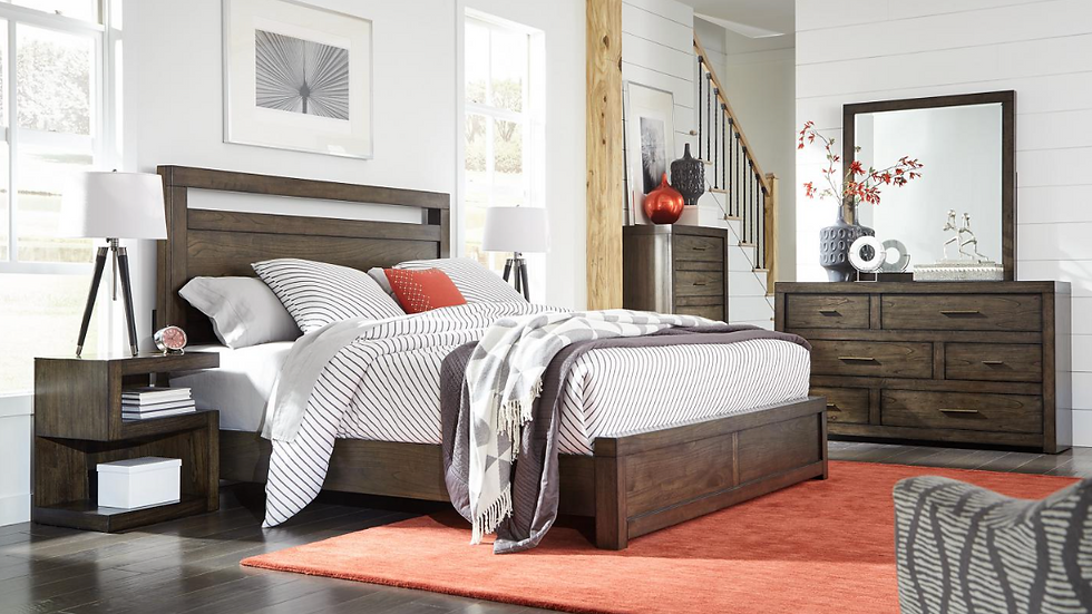 Modern Loft Queen Panel Bed without Storage