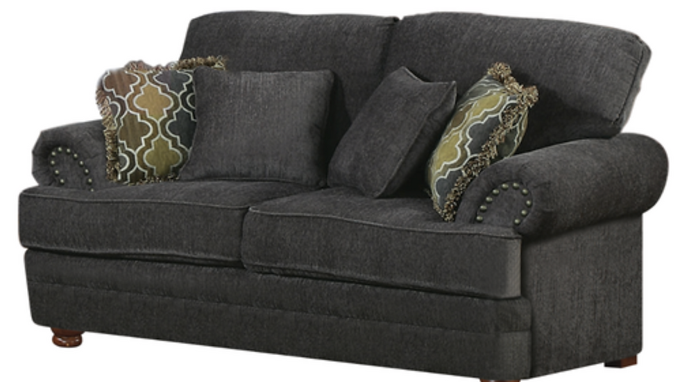 Rolled Arm Upholstered Loveseat