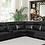 Thumbnail: Cullin 6-piece Modular Power Motion Sectional Black