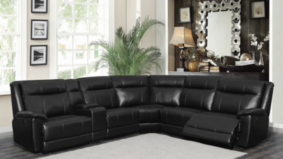 Cullin 6-piece Modular Power Motion Sectional Black
