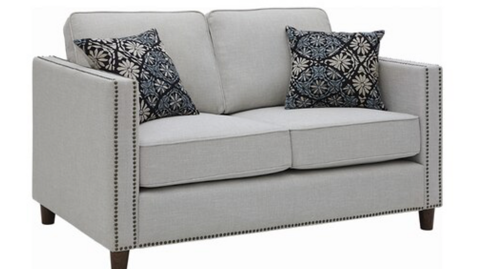 Coltrane Upholstered Loveseat with Nailhead Trim