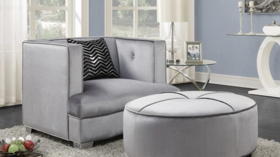 Caldwell Recessed Arm Upholstered Chair