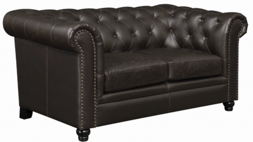 Roy Rolled Arm Tufted Loveseat