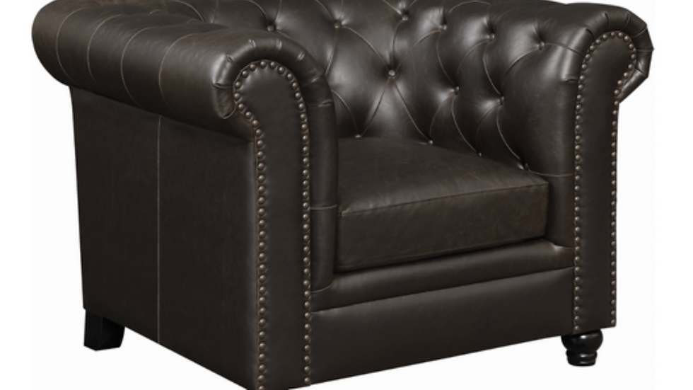 Roy Rolled Arm Tufted Chair