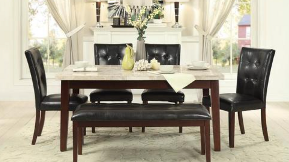 Decatur Dining Table w/ Marble Top