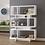 Thumbnail: 3 Tier Geometric Bookcase White