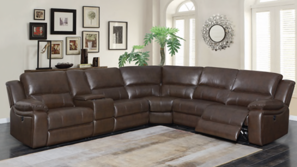 Channing 6-piece Power Motion Sectional Brown
