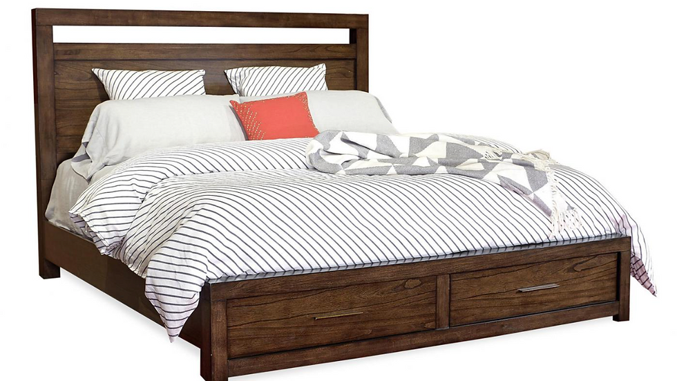 Modern Loft King Panel Bed w/Storage