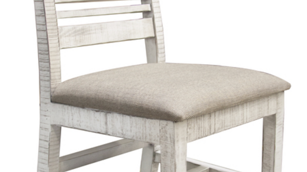 Stone Chair w/ Turned Legs & Fabric Seat