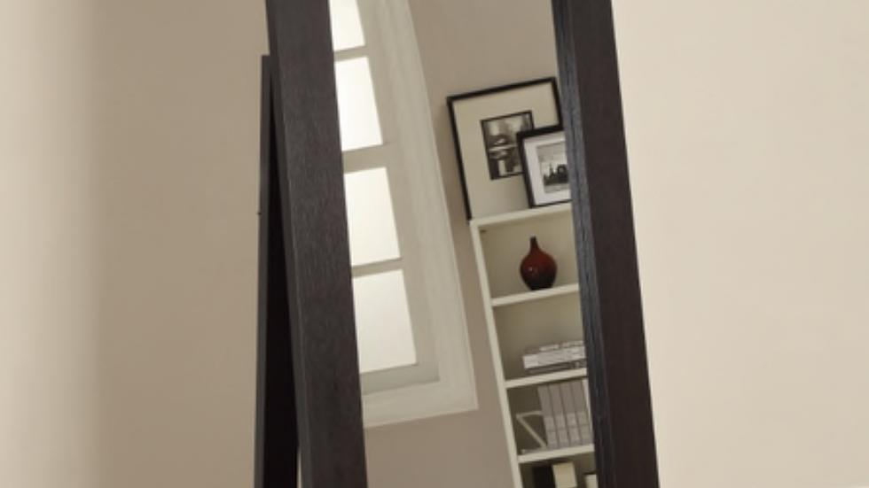 Rectangular Floor Mirror Cappuccino