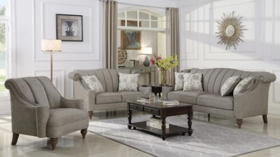 Lakeland Nailhead Upholstered Sofa