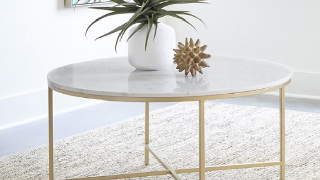 White Marble/Gold Coffee Table