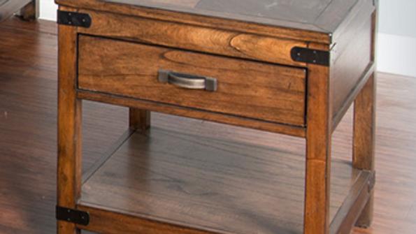 Solid Wood Mahogany End Table