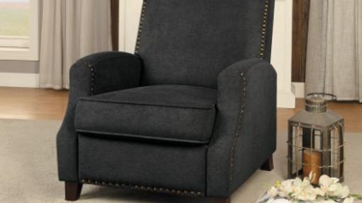 Walden Push Back Recliner Chair Dark Gray