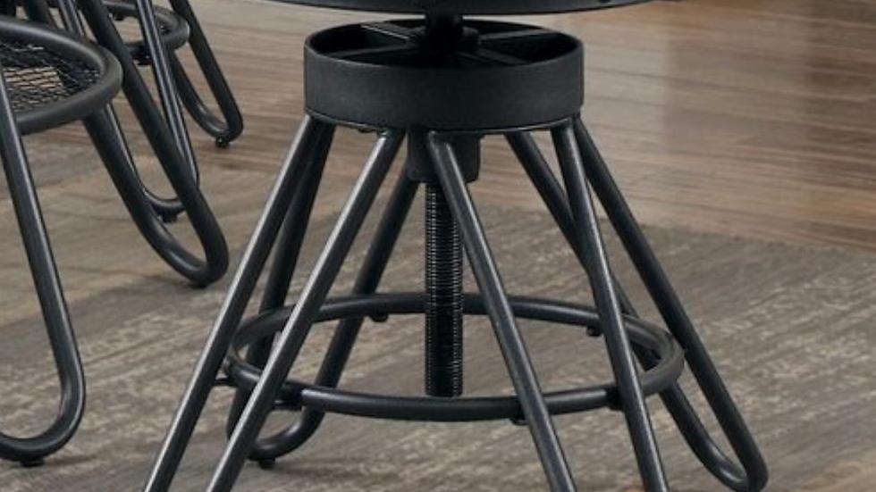 "24"" Cirrus Round Stool Adjustable Height"