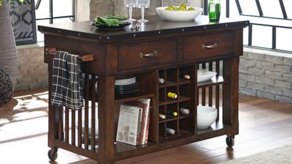 Schleiger Kitchen Cart w/ Casters