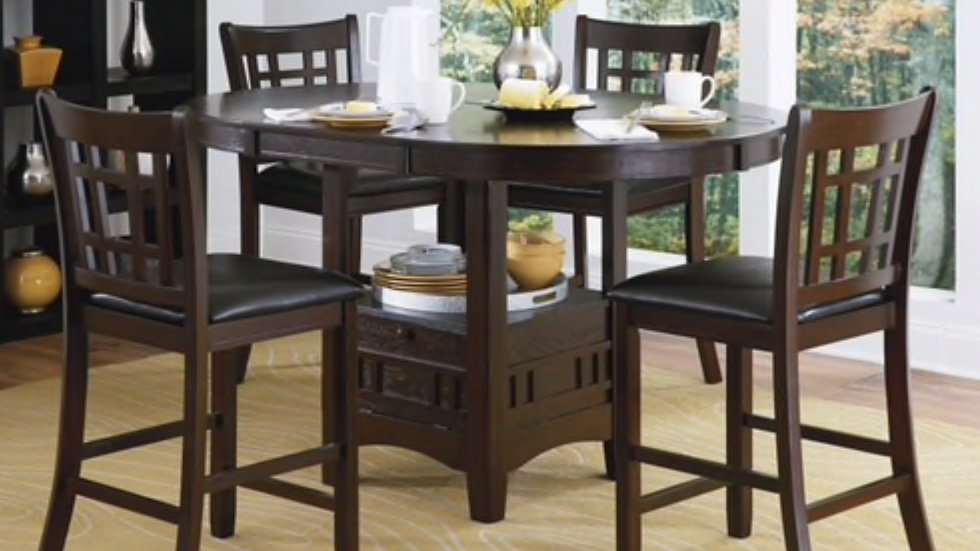 5 Pieces Counter Height Dining Set