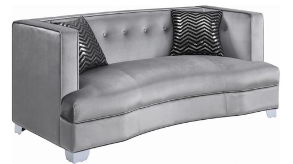 Caldwell Recessed Arm Upholstered Loveseat