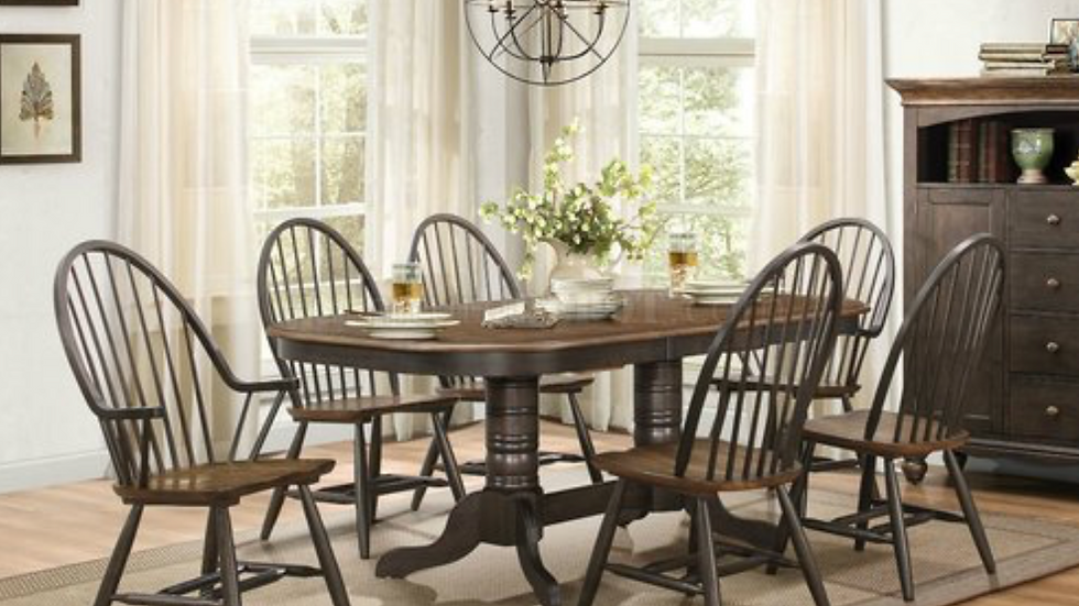 Cline Double Pedestal Dining Table