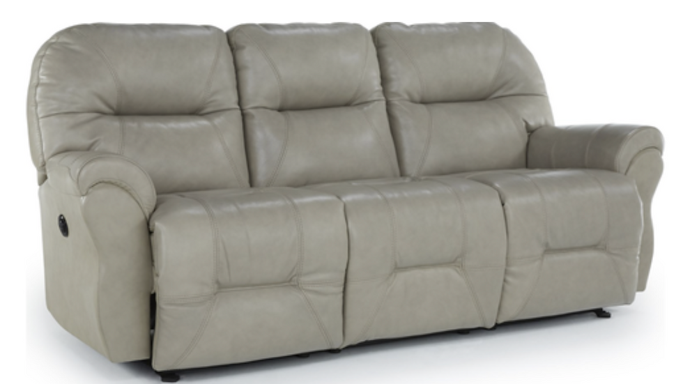 Leather Match Powered Reclining Sofa