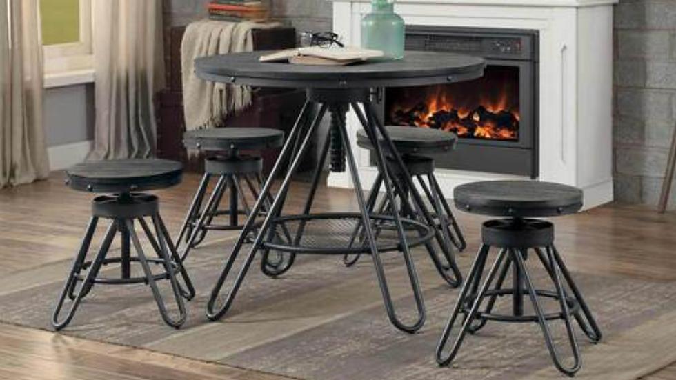 Cirrus Round Dining Table Adjustable Height
