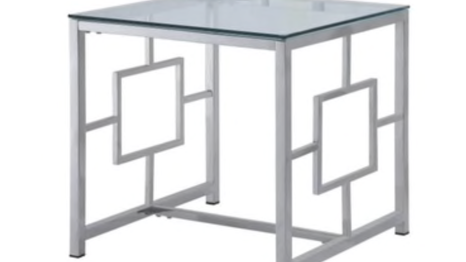 Yesenia Collection Glass End Table