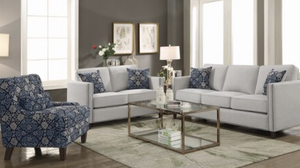 Coltrane Upholstered Sofa with Nailhead Trim