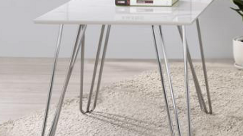 White Marble End Table