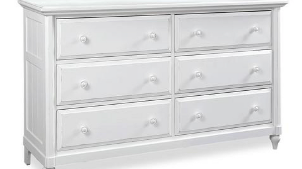 Retreat Chalk Six Drawer Dresser