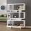 Thumbnail: 3 Tier Geometric White Bookcase