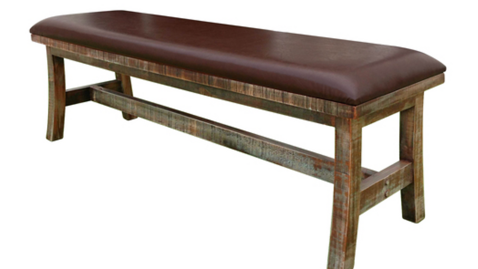 Antique Multicolor Breakfast Bench