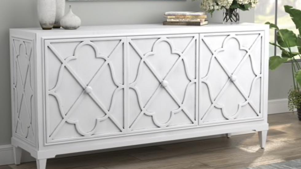 3 Door Accent Cabinet Antique White
