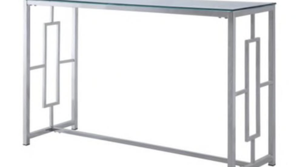 Yesenia Collection Glass Sofa Table