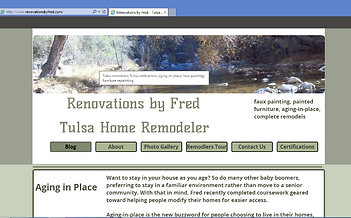 Screen show of Renovations by Fred Website
