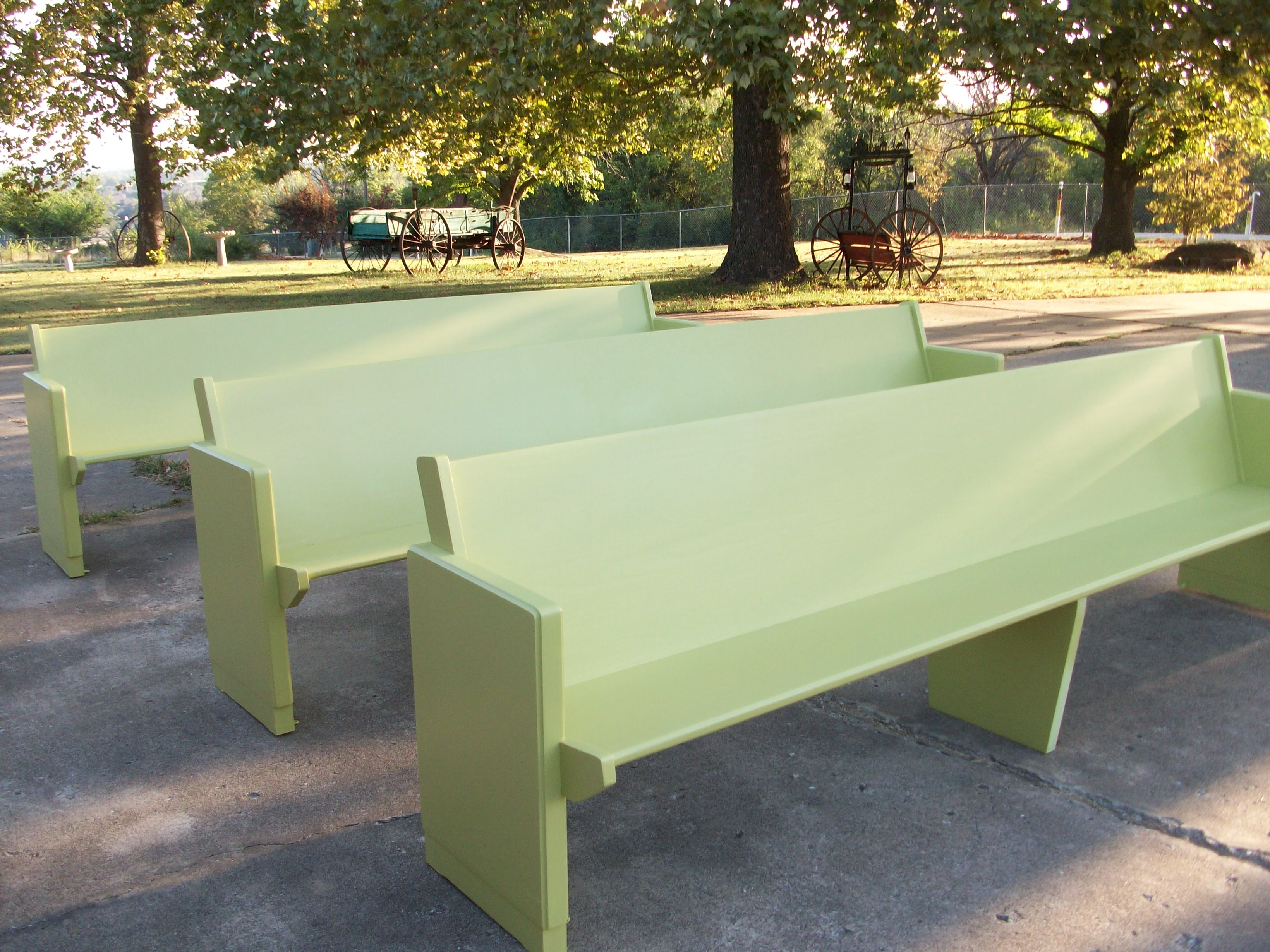 Lime Green Pews