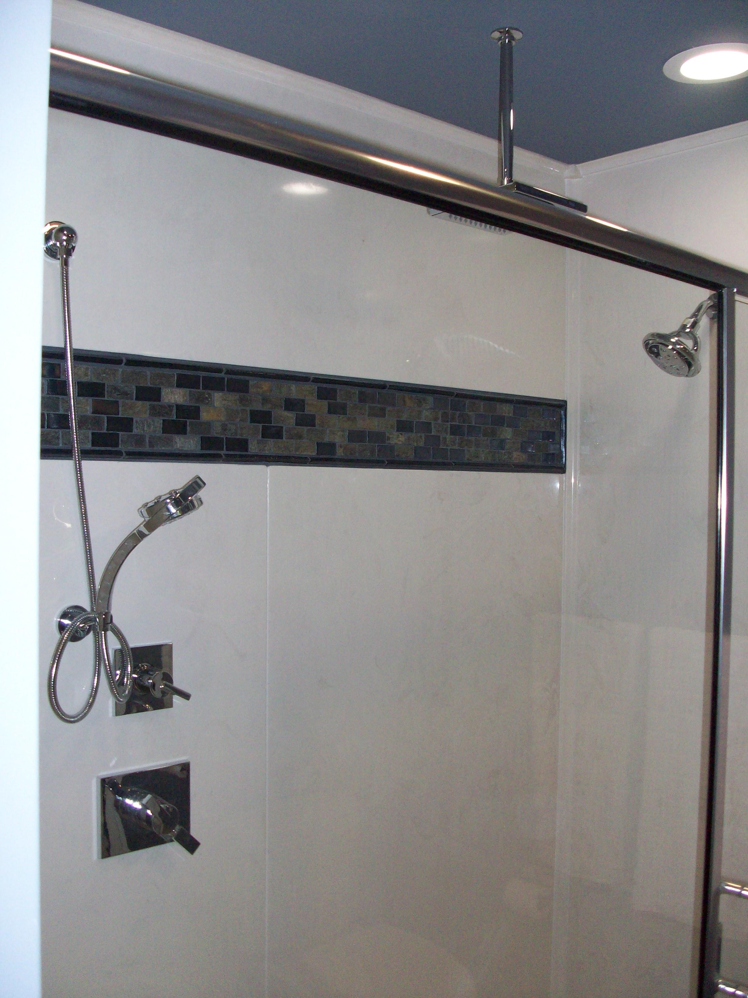 3 head shower with diverter