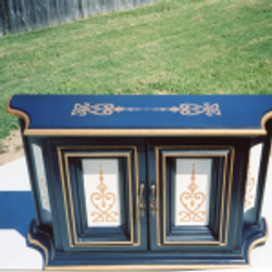 Blue Stenciled Chest
