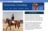 Screen shot of Horse Show Consulting website
