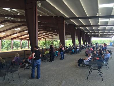 spectators watching horse show