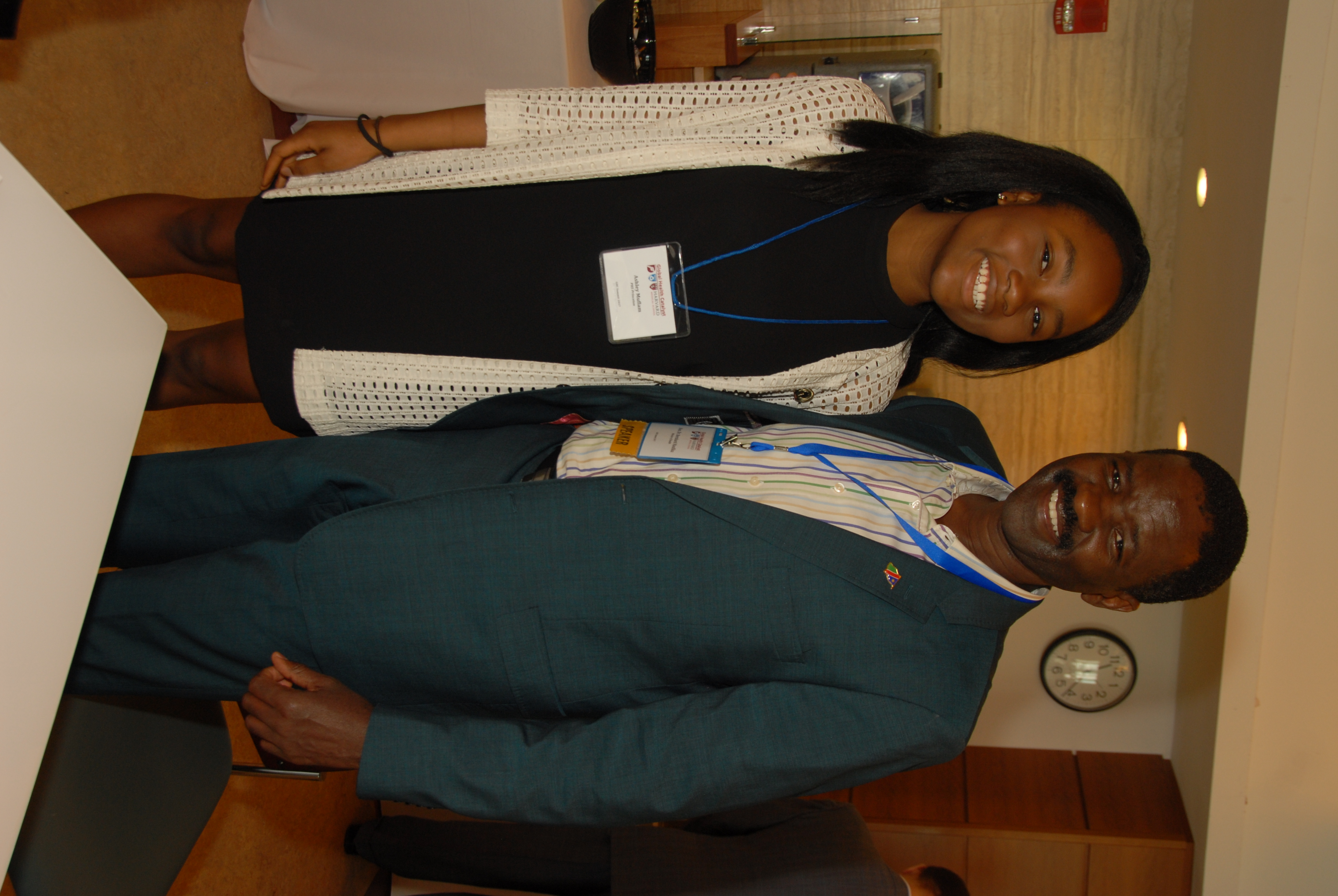 Ashley Muflam (with Namibia Minister