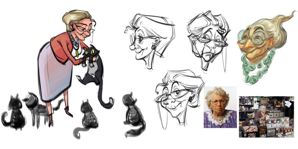 Shopkeeper Character Design Draft
