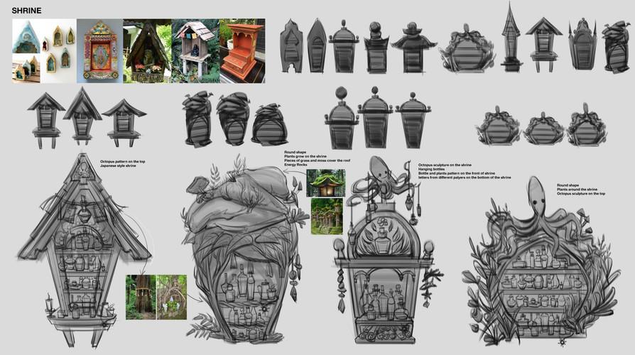 Shrine Design Drafts