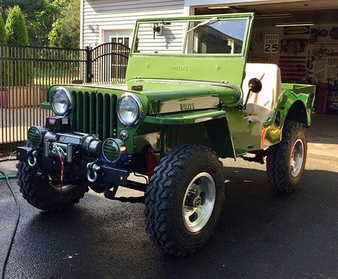 The #barnfind jeep after the restoration